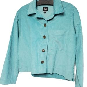 2/$40   Turquoise big corduroy button up